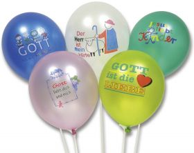 Luftballon-Set mit christlichen Motiven