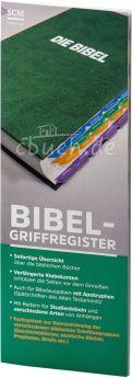Bibel-Griffregister mit Farbsystem inkl. Apokryphen und Anhang für Studienbibeln