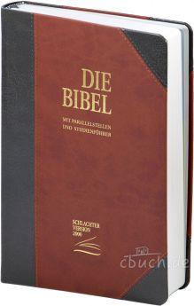 Schlachter 2000 Bibel - Standardausgabe (PU-Einband, grau/braun)