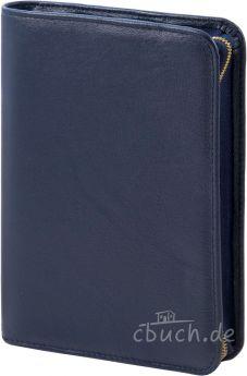 Bibelhülle (dunkelblau) für Schlachter-Taschenausgabe