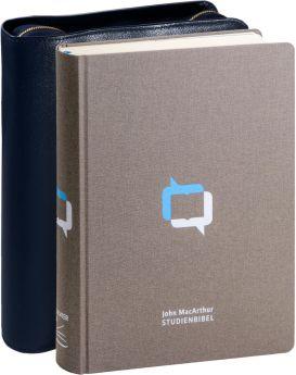 John MacArthur Studienbibel - Leinen mit Rindlederhülle (dunkelblau)