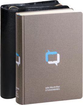 John MacArthur Studienbibel - Leinen mit Rindlederhülle (schwarz)