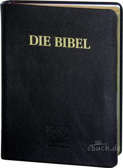 Schlachter 2000 - Schreibrandausgabe - Leder