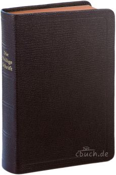 Elberfelder Bibel Edition CSV - Taschenausgabe / Ziegenleder braun / Rotgoldschnitt