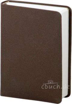Elberfelder Bibel Edition CSV - große Taschenbibel, Bonded-Leather, grau-braun