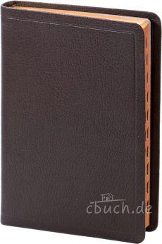 Elberfelder Bibel Edition CSV - Standardausgabe Ziegenleder braun, Rotgoldschnitt, mit Griffregister