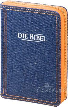 Elberfelder Bibel Edition CS/V - Pocketbibel, Jeans mit Reißverschluß
