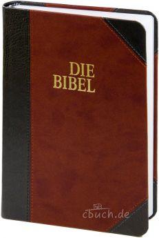 Bibel Schlachter 2000 Taschenausgabe Duotone grau/braun