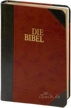 Schlachter 2000 Bibel Taschenausgabe Duotone grau/braun GS