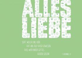 Doppelkarte Alles Liebe / grün  - Bolanz Verlag