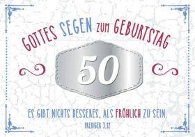 Faltkarte zum 50. Geburtstag - Es gibt nichts besseres