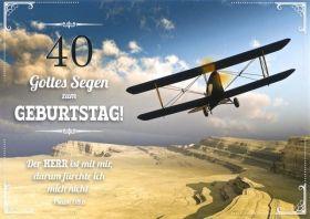 Doppelkarte Hut auf Fahrradlenker - Zum Geburtstag - Bolanz Verlag
