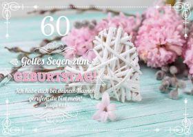 Faltkarte zum 60. Geburtstag - Flechtherz