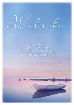 Doppelkarte Boot / Wiedersehen - Trauer/Anteilnahme