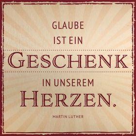 Metalltafel - Glaube ist ein Geschenk. Edle Tafel im Vintagestil mit Zitat. Mit Aluaufsteller und Kuvert.