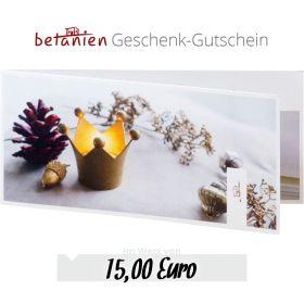 Betanien Geschenk-Gutschein im Wert von 15 Euro (Weihnachts-Karte)