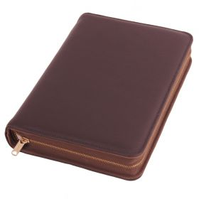 Bibelhülle Olivenleder dunkelbraun, für Schlachter Taschenausgabe