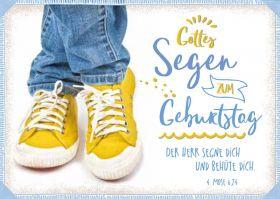 Doppelkarte Gelbe Turnschuhe - Zum Geburtstag - Bolanz
