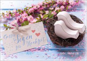 Doppelkarte Vogelnest - Zur Hochzeit