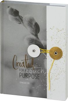 Notizbuch mit Knopf - Grace & Hope Created for a Purpose