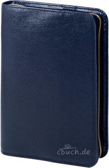 Bibelhülle Rindleder-Smart  für Schlachter Taschenausgabe (blau)