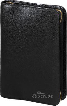 Bibelhülle Rindleder-Smart  für Schlachter Taschenausgabe (schwarz)