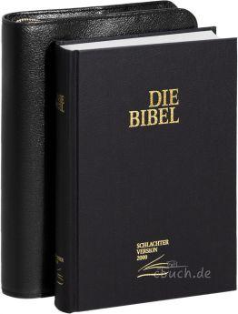 Schlachter 2000 Taschenausgabe mit Bibelhülle Rindleder