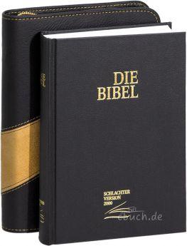 Schlachter 2000 Taschenausgabe schwarz mit Bibelhülle Verona.