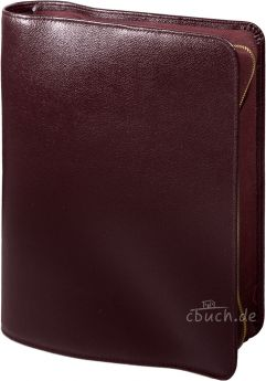 Bibelhülle für MacArthur Studienbibel (weinrot)