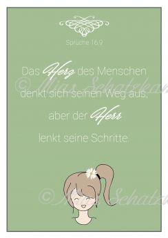 Postkarte – Das Herz des Menschen... - Mias Schatzkammer