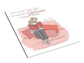 Postkarte – Öffne mir die Augen... - Mias Schatzkammer