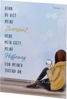 Postkarte: Denn du bist meine Zuversicht - Psalm 71,5
