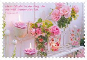 12 Minikarten Rosen auf dem Regal - Bolanz