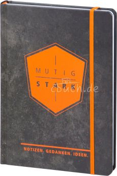 """Notizbuch """"mutig und stark"""" - Notizen. Gedanken. Ideen."""