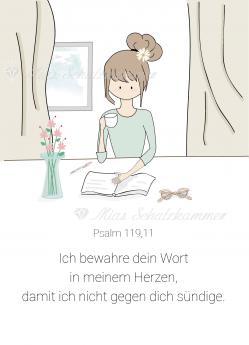 Postkarte – Ich bewahre dein Wort - Ps 119,11