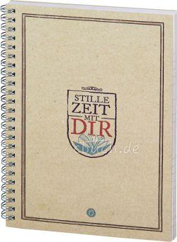 """Stille Zeit mit Dir - Notizbuch - Motiv """"Plakatschrift"""""""