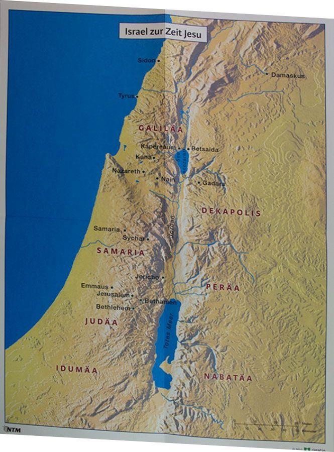 Landkarte israel bibel