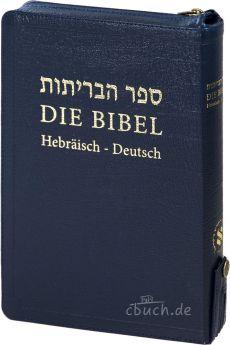 Die Bibel: Hebräisch-Deutsch - Leder mit Reißverschluß
