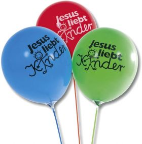 Luftballon-Set - Jesus liebt Kinder