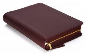 Bibelhülle für MacArthur Studienbibel (Bordeaux-Rot)