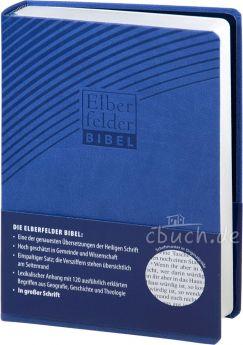 Revidierte Elberfelder Bibel in großer Schrift  - Kunstleder blau