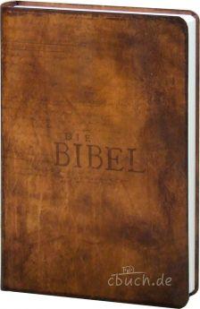 """Bibel Schlachter 2000 Taschenausgabe """"Vintage hellbraun"""""""