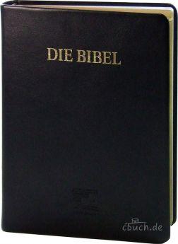 Schlachter 2000 Bibel - Großdruckausgabe Kalbleder