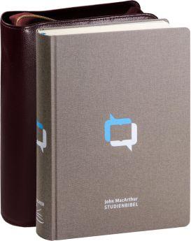 John MacArthur Studienbibel - Leinen mit Rindlederhülle (weinrot)