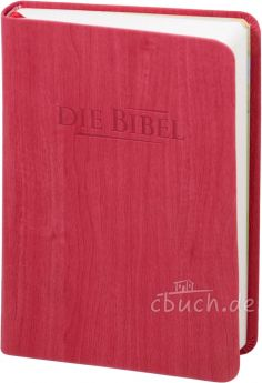 Elberfelder Bibel Edition CSV - Taschenbibel, größere Ausgabe, rot Holzoptik