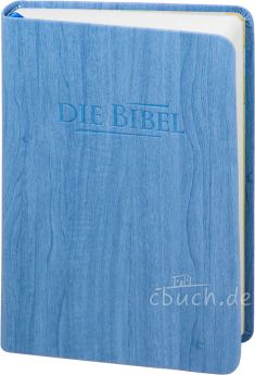 Elberfelder Bibel Edition CSV - Taschenbibel, größere Ausgabe, blau Holzoptik