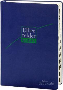 Revidierte Elberfelder Bibel - mit Schreibrand und Griffregister ital. Kunstleder dunkelblau