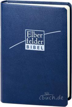 Revidierte Elberfelder Bibel - Taschenausgabe, ital. Kunstleder blau