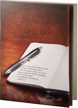 Dein Wort bewahren - Notizheft