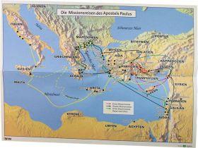 Landkarte Missionsreisen des Apostels Paulus